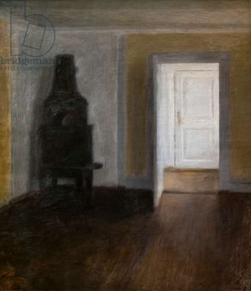 The White Door (Interior with the old stove), 1888 (oil on cavnas)