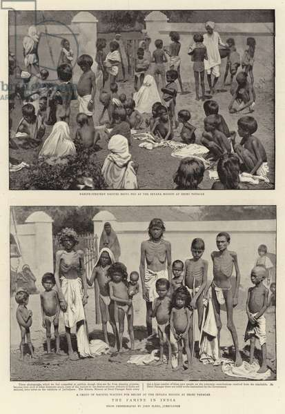 The Famine in India (b/w photo)