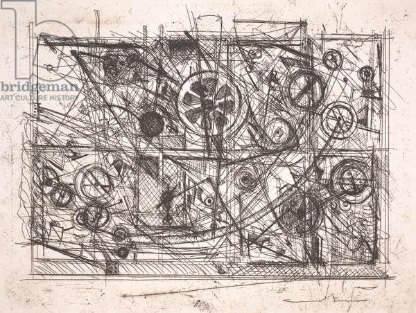 Metaharmonie III, 1981 (etching)