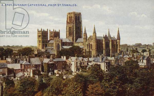Durham Cathedral, from St Oswald's (photo)