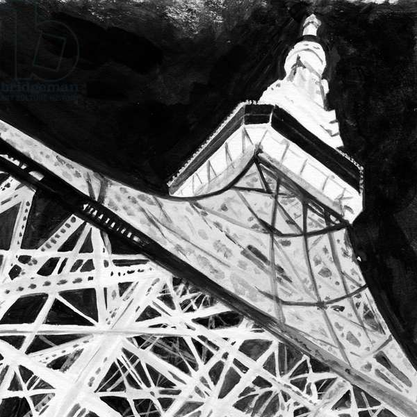Tokyo tower in the night,2017,(Acrylic paint on paper)