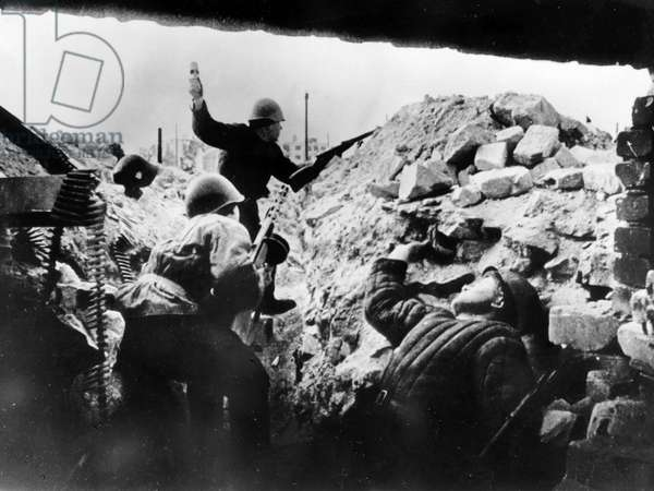 Red Army Soldiers During the Battle on Mamayev Hill in Stalingrad, January 1943.