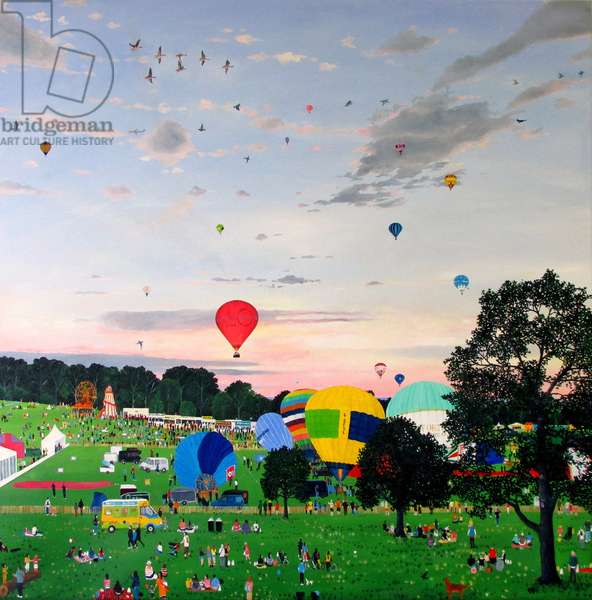 Balloon Fiesta, 2013 (oil on linen)