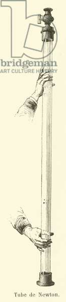 Tube of Isaac Newton (engraving)