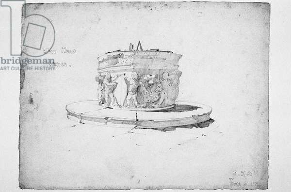 Well Head, Venice, 1891 (pencil on paper)