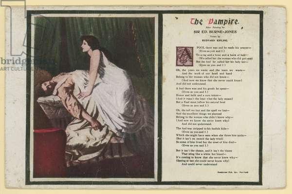 The Vampire by Rudyard Kipling (colour litho)