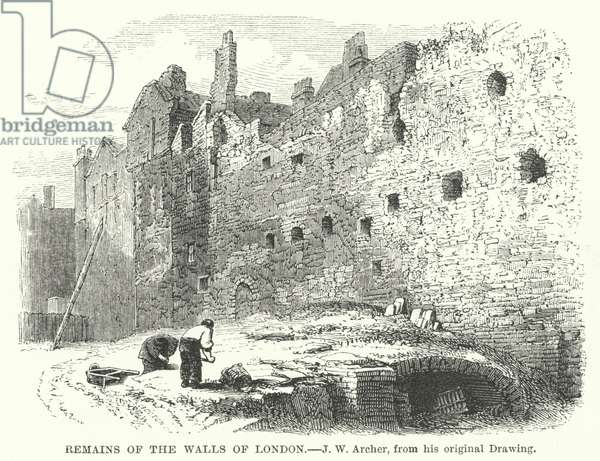 Remains of the Walls of London (engraving)