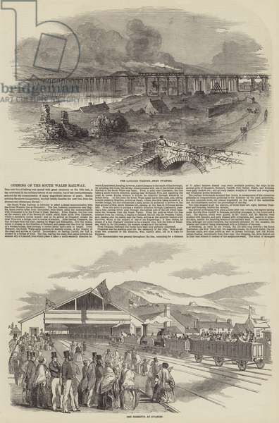 Opening of the South Wales Railway (engraving)