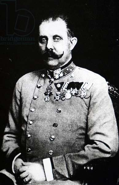 Archduke Franz Ferdinand of Austria (b/w photo)