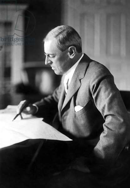 WOODROW WILSON (1856-1924) 28th President of the United States. Photographed in 1917.