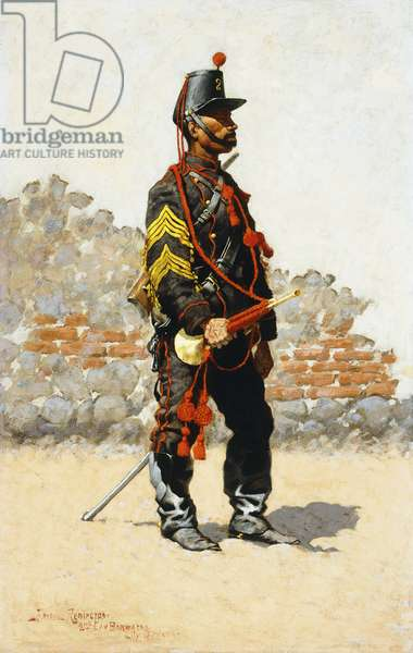 Bugler of the Cavalry, 1889 (oil on canvas laid on panel)