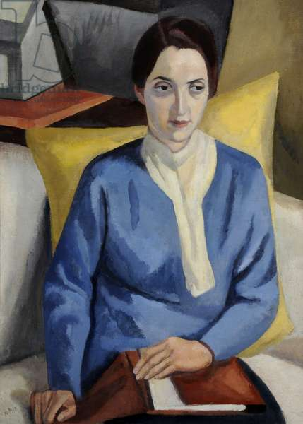The Student, 1917 (oil on canvas)