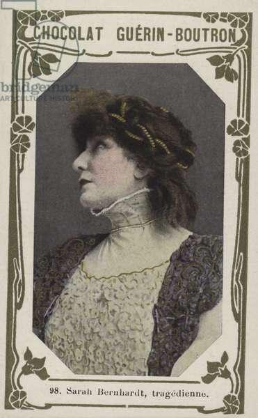 Sarah Bernhardt, tragedienne (coloured photo)