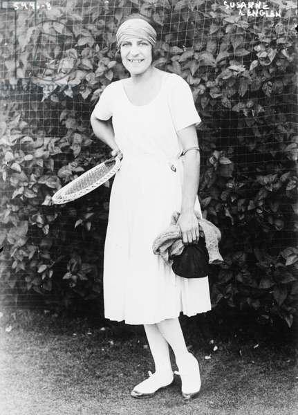 Suzanne Lenglen, French Tennis Player, Portrait, Bain News Service, 1921 (b/w photo)