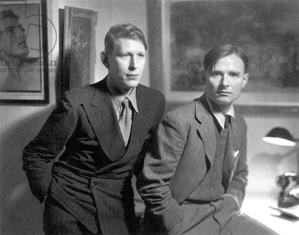 AUDEN & ISHERWOOD. Wystan Hugh Auden (1907-1973) and Christopher Isherwood (1904-1986). English writers.