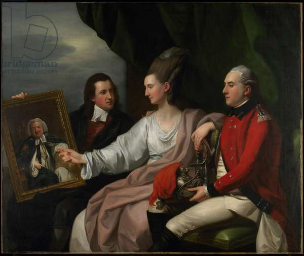 Portrait Group of the Drummond Family, Peter Auriol Drummond, Mary Bridget Milnes Drummond ), and George William Drummond, 1776 (oil on canvas)