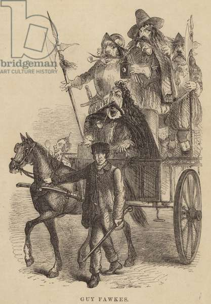 Cartoon of Guy Fawkes in London Labour and the London Poor (engraving)