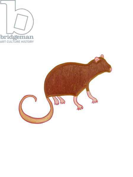 The Rat (Chinese Horoscope), 2009,(oil on birch plywood)