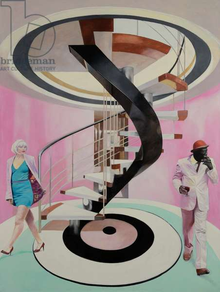 Untitled (Last Spiral Staircase) (oil on canvas)