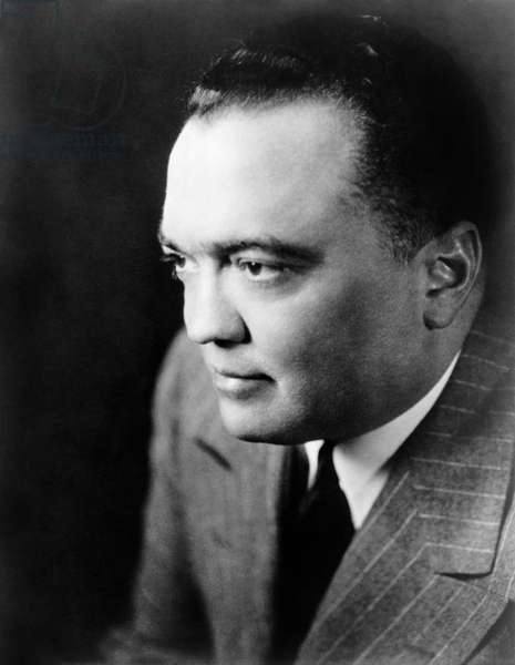 J. EDGAR HOOVER (1895-1972) American lawyer and first Director of the Federal Bureau of Investigation. Photograph, 1948.