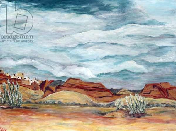 Southwestern Skies , 2015, (acrylic on canvas)