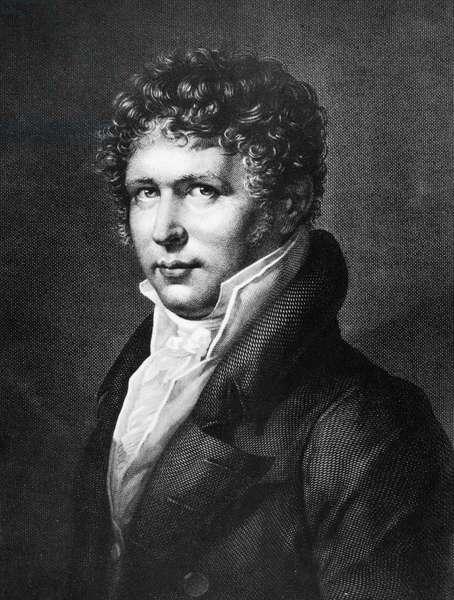 ALEXANDER von HUMBOLDT (1769-1859). German naturalist. Line engraving, early 19th century.