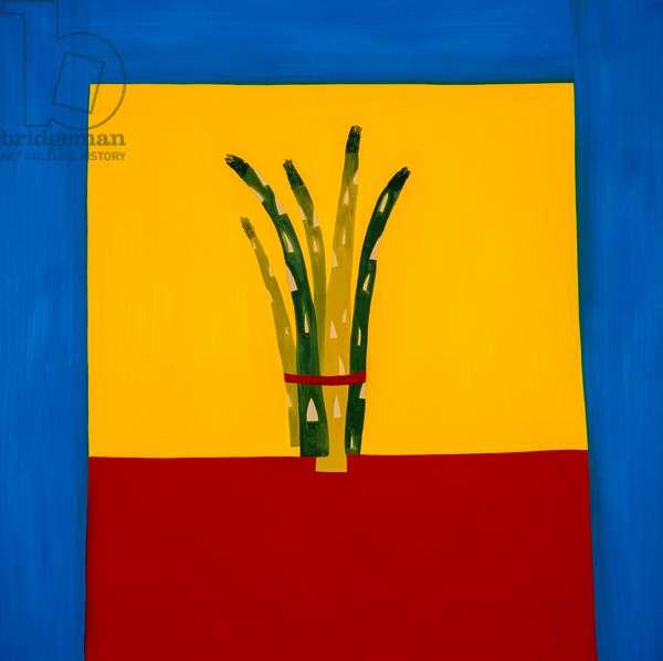 Asparagus,1998,(oil on linen)