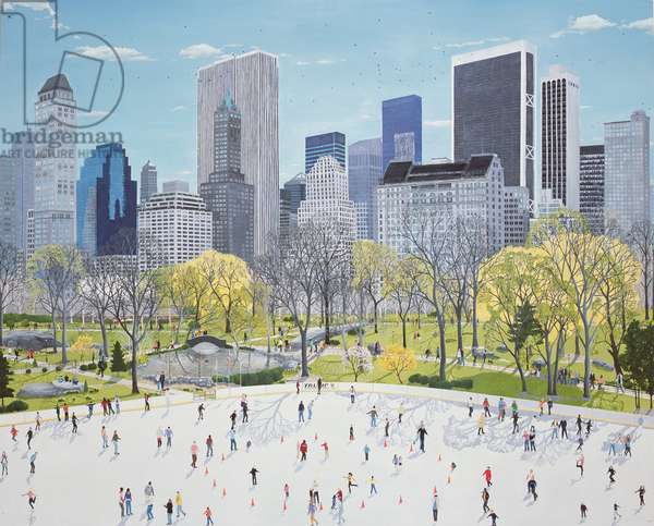 NY Skaters, 2008 (oil on canvas)
