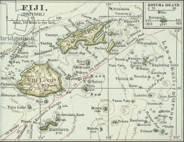 Map of Fiji Islands