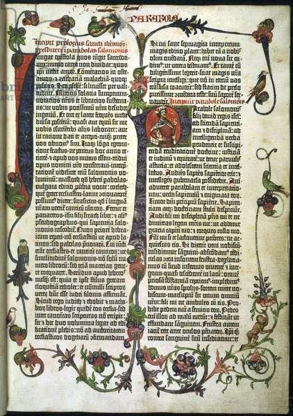 Parabole or Proverbs. In the Gutenberg Bible
