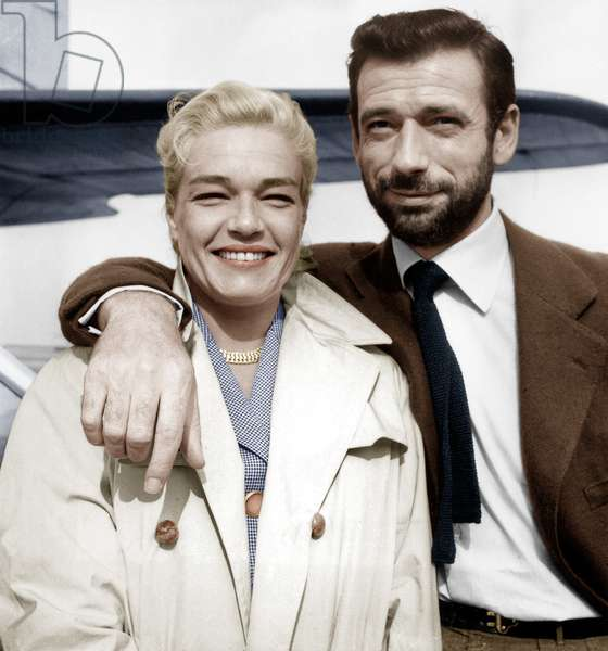 Simone Signoret and Yves Montand on July 23, 1956 (photo)