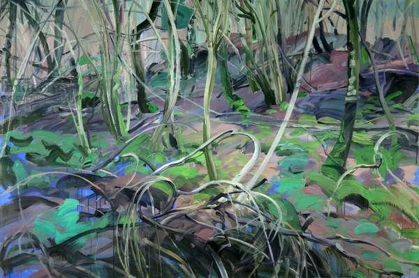Forêt 1 ,2014 (acrylic on canvas)