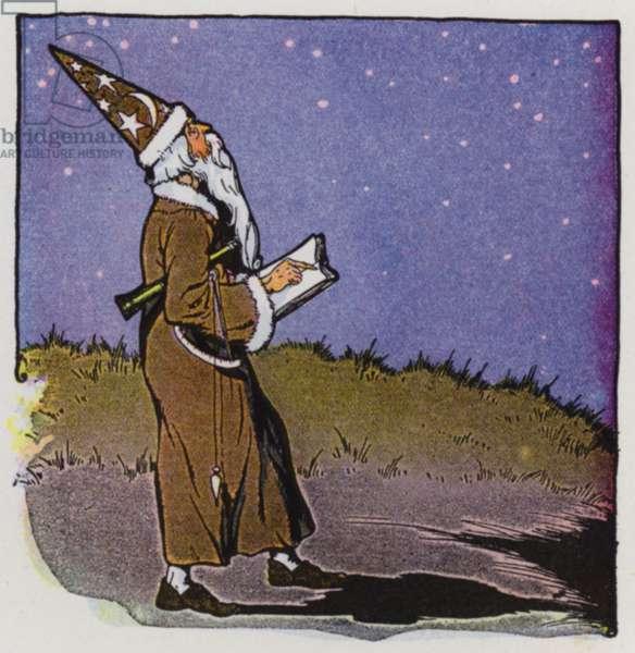 Aesop's Fables: The Astrologer (colour litho)