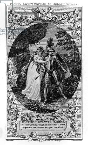 Illustration from 'The Castle of Otranto', by Horace Walpole, 1765 (engraving)
