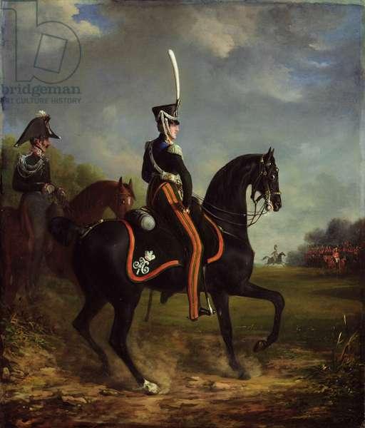Tsar Nicholas I of Russia, when Grand Duke, riding in Hyde Park (oil on canvas)