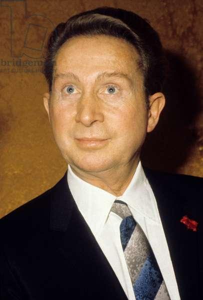 French Singer Charles Trenet (1913-2001) in 1970 (photo)