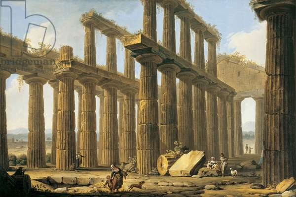 The Temple of Hera at Paestum, 1754-1804 (oil on canvas)