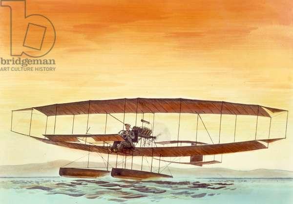 First Public Flight In June Bug, by Glenn L. Curtiss, 1908