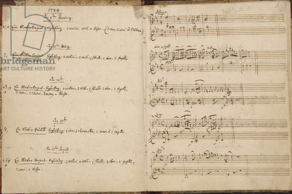 Mozart's Thematic Catalogue