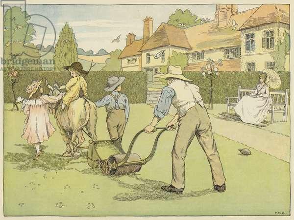 Gardener (colour litho)