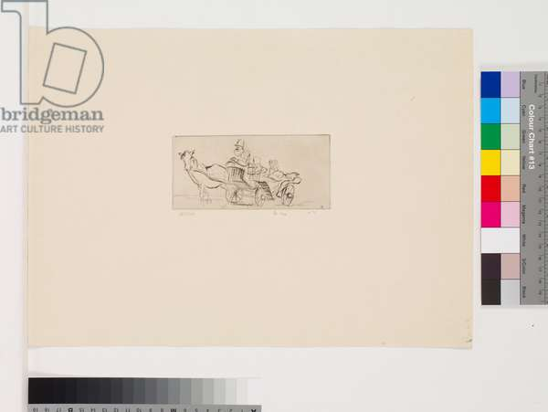 Horse & Carriage, 1970 (etching, first state)