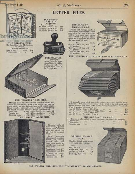 Page from Army and Navy Stores Catalogue, 1939-40 (litho)