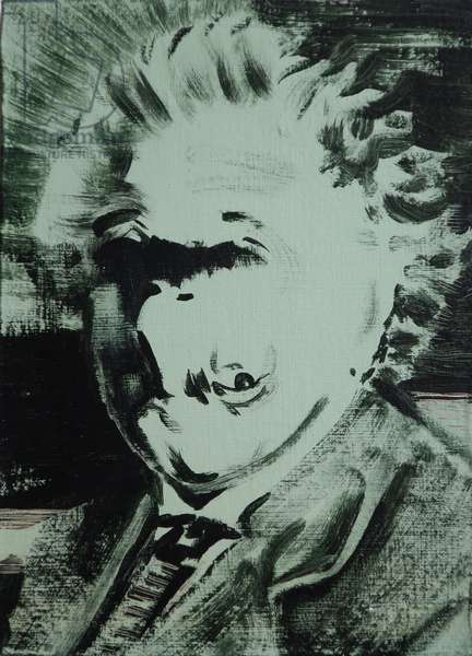 Einstein, 2013 (acrylic on board)