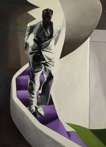 Descending Figure on Staircase, 1994-95 (oil on canvas)