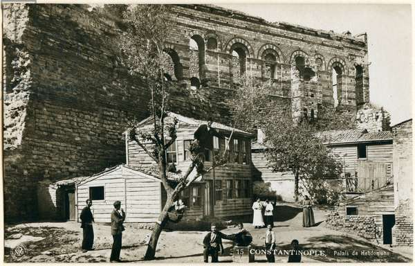Palace of Porphyrogenitus or Tekfur Sarayi, Istanbul, Turkey, photograph by NPGs, Neue Photographische Gesellschaft, Berlin-Steglitz, circa 1905