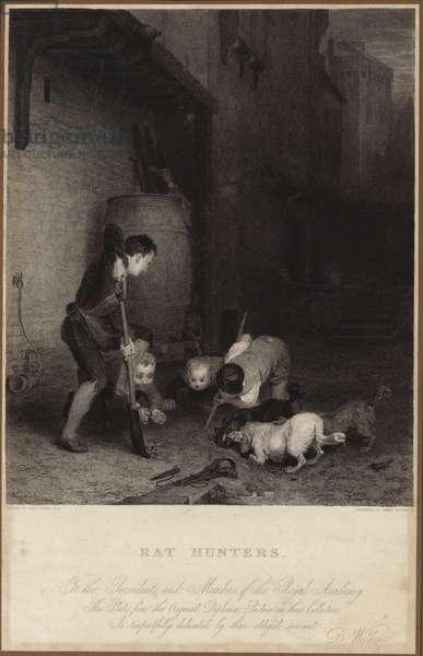 Rat hunters (engraving)