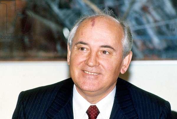 Mikhail Gorbachev, Leader of the USSR, Here In October 1989 In Finland - Mikhail Gorbachev, President of Ussr, here in October 1989 in Finland (photo)