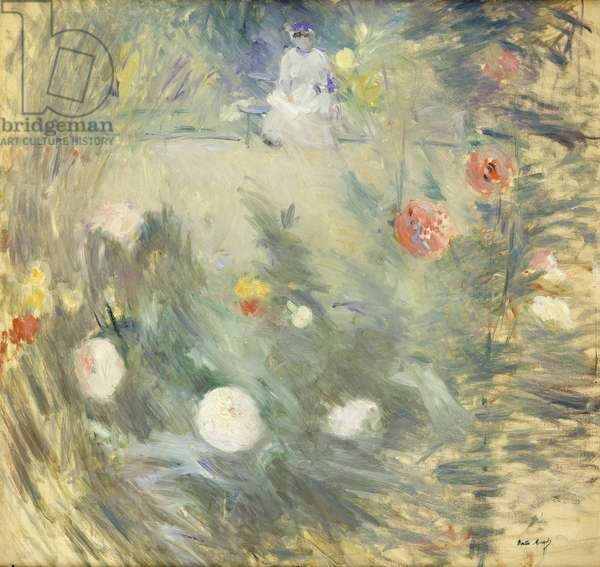 Nanny at the End of the Garden; Nourrice au Fond d'un Jardin, 1880 (oil on canvas)