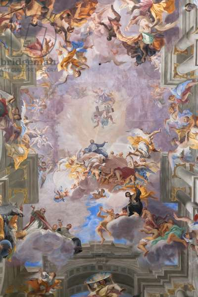 Sant' Ignazio di Loyola Church, Rome, Italy, 17th century (fresco)
