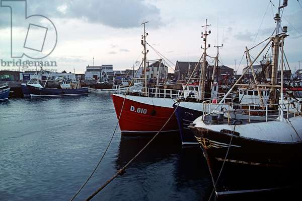 Howth Harbour, Dublin, referred to in James Joyce 'Ulysses', Ireland (photo)
